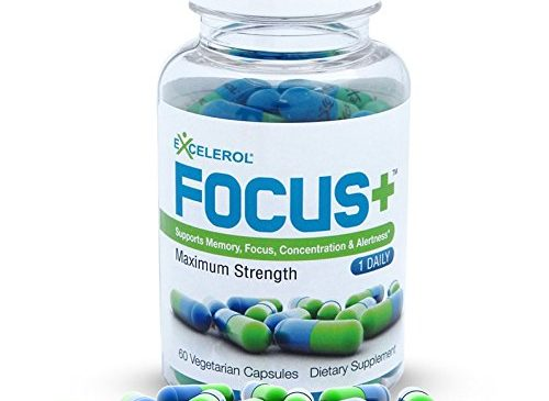 Excelerol Focus Plus Brain Supplement Capsules, 60 ...