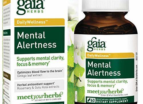 Gaia Herbs Mental Alertness Vegan Liquid Capsules, ...